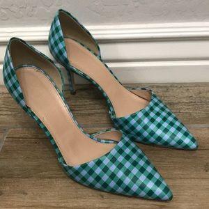 JCREW Checkered heels